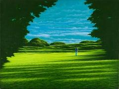 Green - Oil on Canvas by Daniele Fissore - 2001