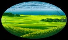 Oval Green - Oil on Canvas by Daniele Fissore - 2001