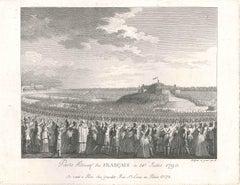Pacte Fédératif des Français - Original Etching by Abraham Girardet - 1790