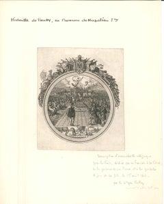 """Médaille de Pallot - Original Etching by Palloy """"the Patriot""""  End of 1700"""