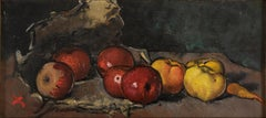 Still Life With Fruit And Vegetables - Original Oil on Canvas by Luigi Spazzapan