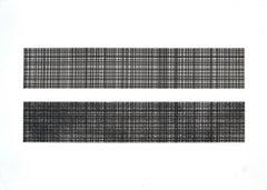Black And White Crossing - Oscar Piattella - 1970s - Etching - Modern