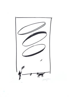 Man And Dog - 20th Century - Sante Monachesi - Serigraph - Contemporary