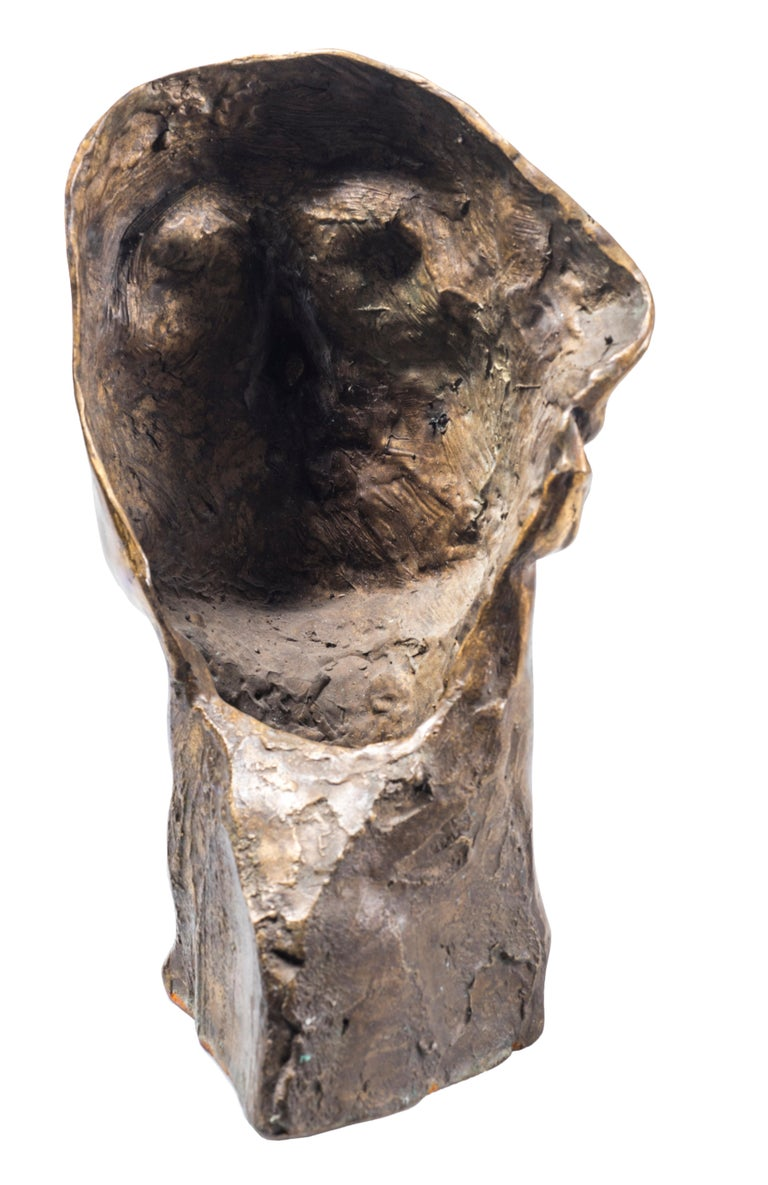 Head of Man - Original Bronze Sculpture by Amedeo Bocchi - 1920s For Sale 2
