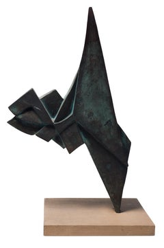 Totem - Original Bronze Sculpture by Fulvio Ligi - Second Half of 20th Century