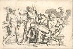 Divinities - Original Etching by Jean Baptiste Huet - 18th Century