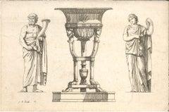 Fragments Antiques et Modernes - Original Etching by J.B. Huet - 18th century
