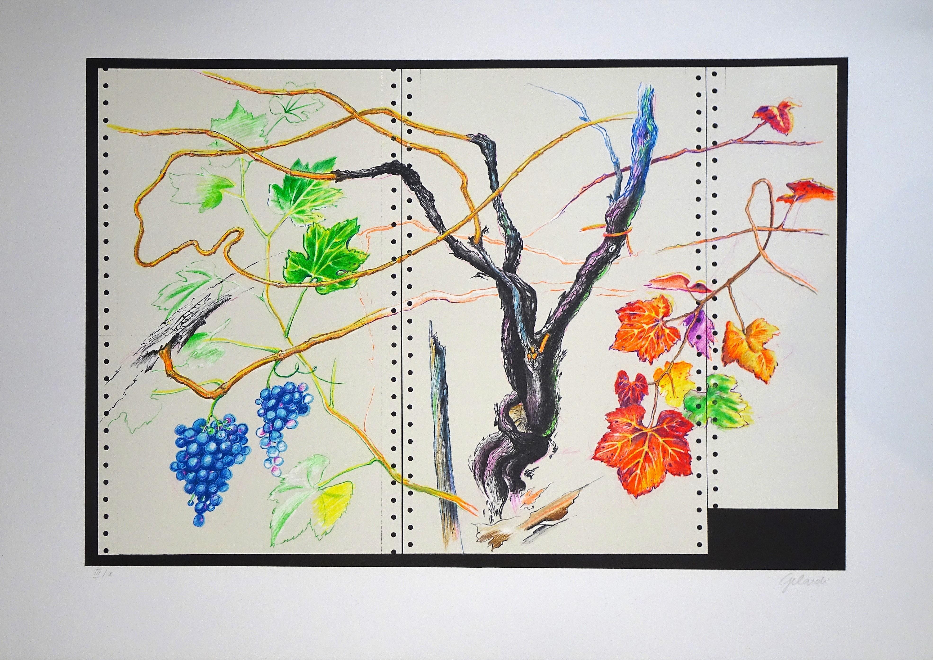 """""""Inverosimile"""" no.1 - Original Lithograph by Piero Gilardi - 1990"""