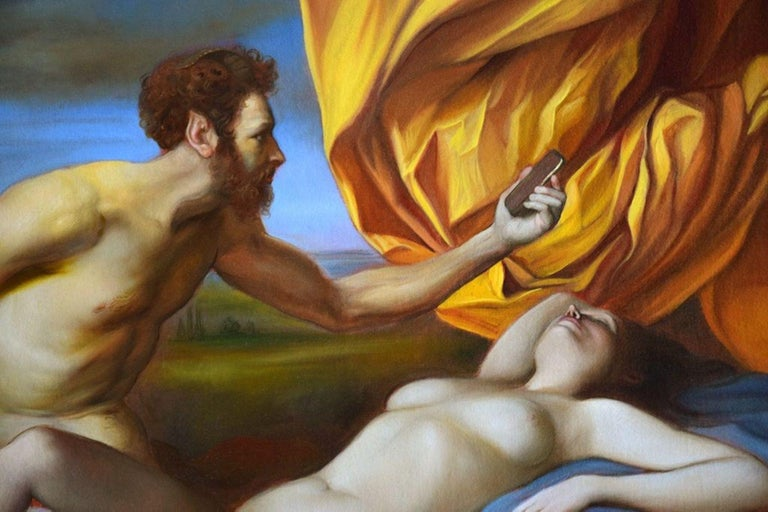 Variations on the theme of Antiope - Oil on Canvas by G. Tommasi Ferroni - 2017 - Painting by Giovanni Tommasi Ferroni