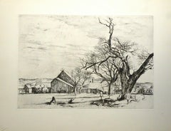 Untitled - Original Etching and Drypoint by Eugène Corneau - 1930s