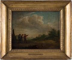 Fire - Original Oil on Panel by the School of D. Teniers Le Jeune - 1690