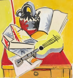La Guitare (The Guitar) - Original Tempera by Henry Wormser