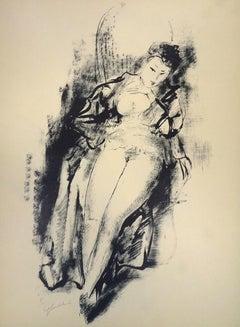 Nude - Original Lithograph by Nicols Gloutchenko - Modern Art - 1928