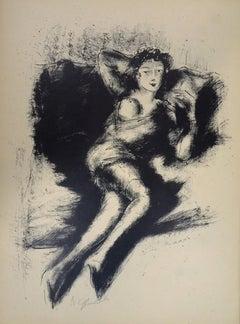 Nude - Original Lithograph by Nicolas Gloutchenko - Modern Art - 1928