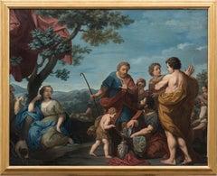 Bucolic Scene - Oil on Canvas Attributed to Michelangelo Ricciolini - 1705