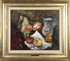 Still Life with Fruits . Original Oil on Canvas by Arturo Tosi - 1941