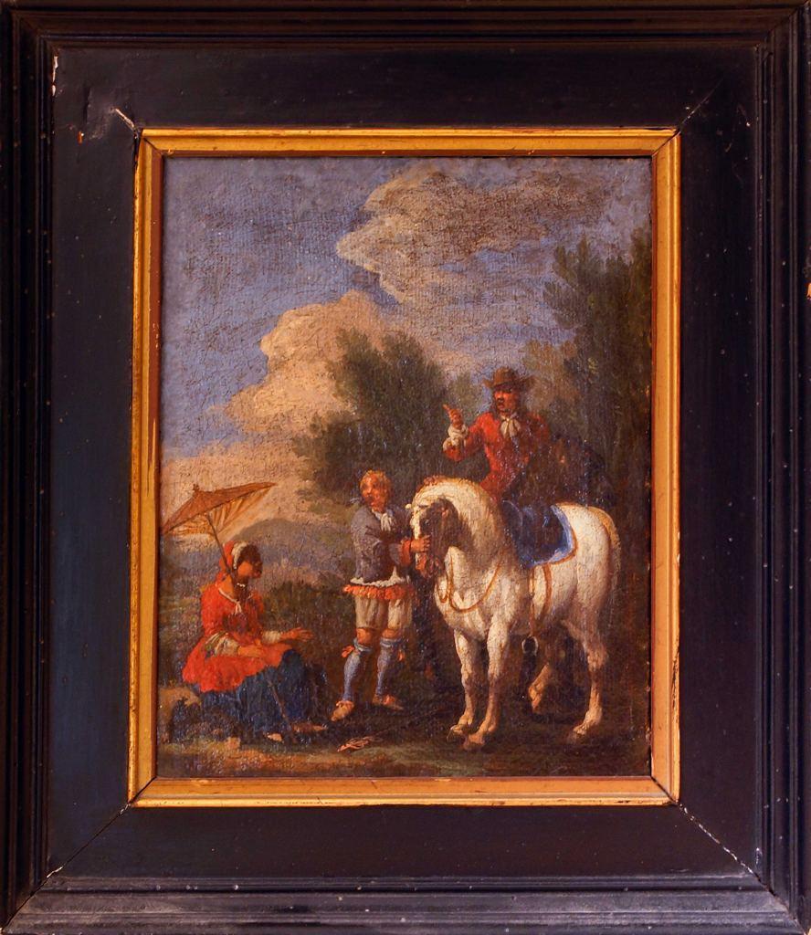 The Knight - Original painting - XVII century