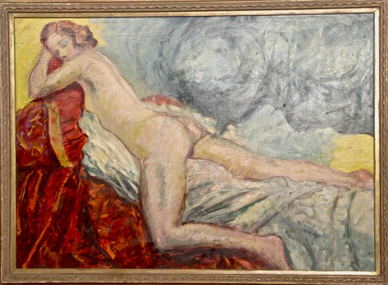 Includes a contemporary wooden frame. Very Good conditions. Provenance: Galleria Pesaro, Milan  Antonio Feltrinelli  (Milan, 1887 – Gargnano, 1942)  Antonio Feltrinelli was born in Milan on June 1, 1887 to Giovanni Feltrinelli, the nephew of