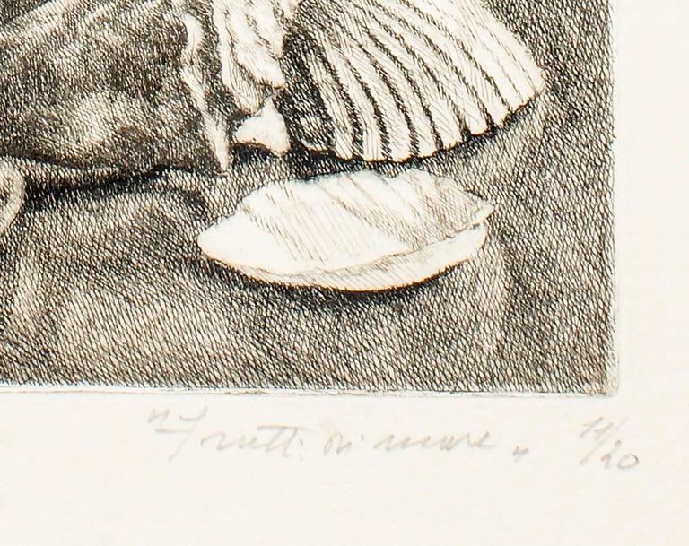 Seafood - Original Etching by Leonardo Castellani - 1943 For Sale 1