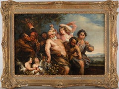 Carnival Scene - Oil Painting by North European Artist After Van Dyck