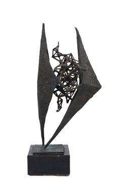 Lovers - Original Bronze Sculpture by Luciano Minguzzi - 1950s