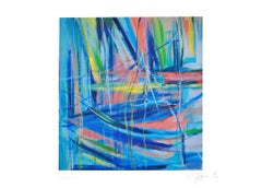 Abstract Crossings - Original Esacolor by Martine Goeyens - 21th Century