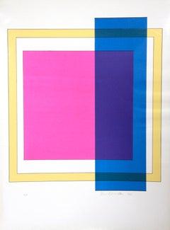 Composition X - Original Screen Print by Franco Cannilla - 1971