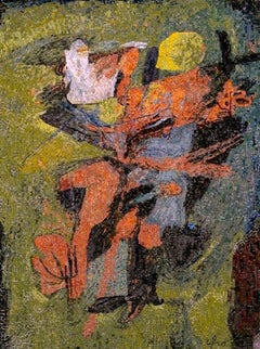 Boy with Turkey - Original Mosaic by Afro Basaldella - 1966