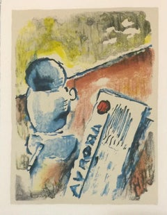 Caffè / Coffee - Original Lithograph by Ardengo Soffici - 1962