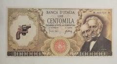Centomila Lire - Original Lithograph by Claudio Cintoli - 1970s