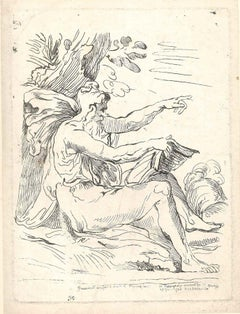 Figure After Parmesan - Original Etching by Comte de Saint-Marys