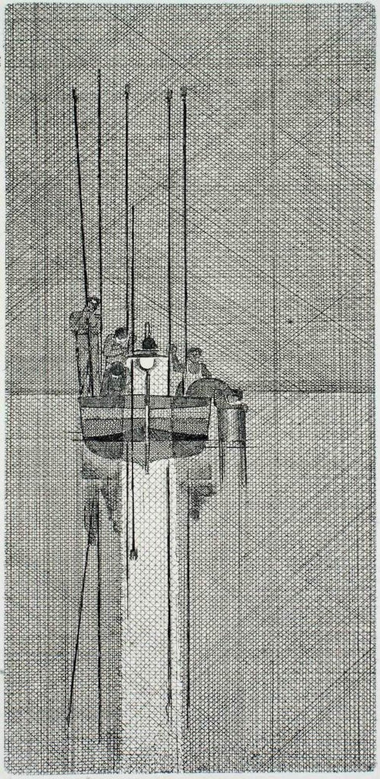 f2728aa259f1 Bruno Caruso - Fishing Boat - Original Etching by Bruno Caruso ...