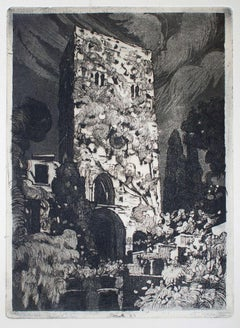 Ravello - Original Etching by Nicola Galante - 1930 ca.
