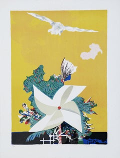Catherine Wheel - Original Lithograph by Pietro Carabellese - 1970s
