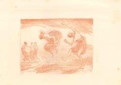 Springende Mädchen - Original Lithograph by L. von Hoffmann - 1904/05