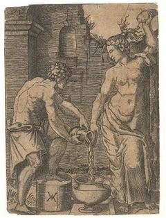 Washerwoman and Slave - Original Etching 1517
