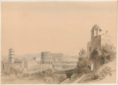 View Of Rome - Watercolor on Paper by C.R. Cockerell - Mid 19th Century