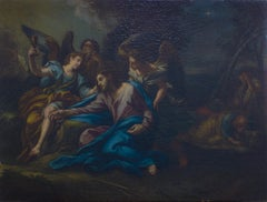 Prayer in the Garden  - Original Oil on Canvas by Andrea Procaccini - Early 1700
