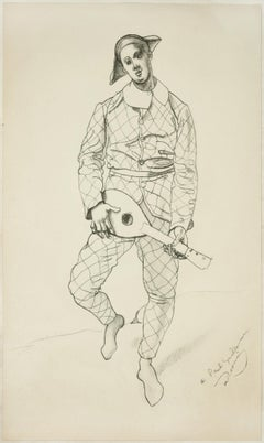 Harlequin - Original Drawing on Paper by André Derain - 1920s