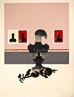 Figures - Original Screen Print by Giuseppe Guerreschi - 1974