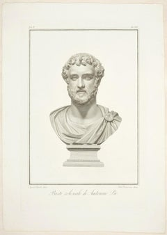 Bust of Antoninus Pius - Original Etching by P. Fontana After A. Tofanelli
