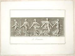 The Dancers - Original Etching by L. Cunego After  B. Nocchi