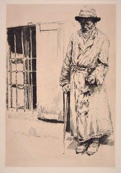 Galizischer Bletter . Original Etching by Erich Wolsfeld - 1915