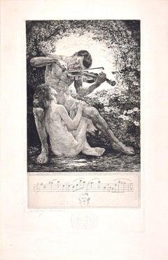 Rosenlaube - Original Etching by Bruno Héroux - 1909