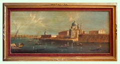 View of Venice - Oil on Canvas Attributed to Alberto Terrini - Early 1900