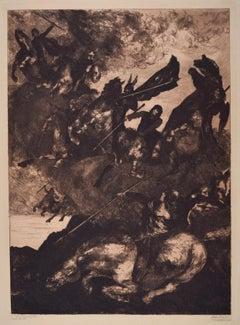 Walkürenritt (the Ride of the Valkyries) - Original Etching by Albert Welti