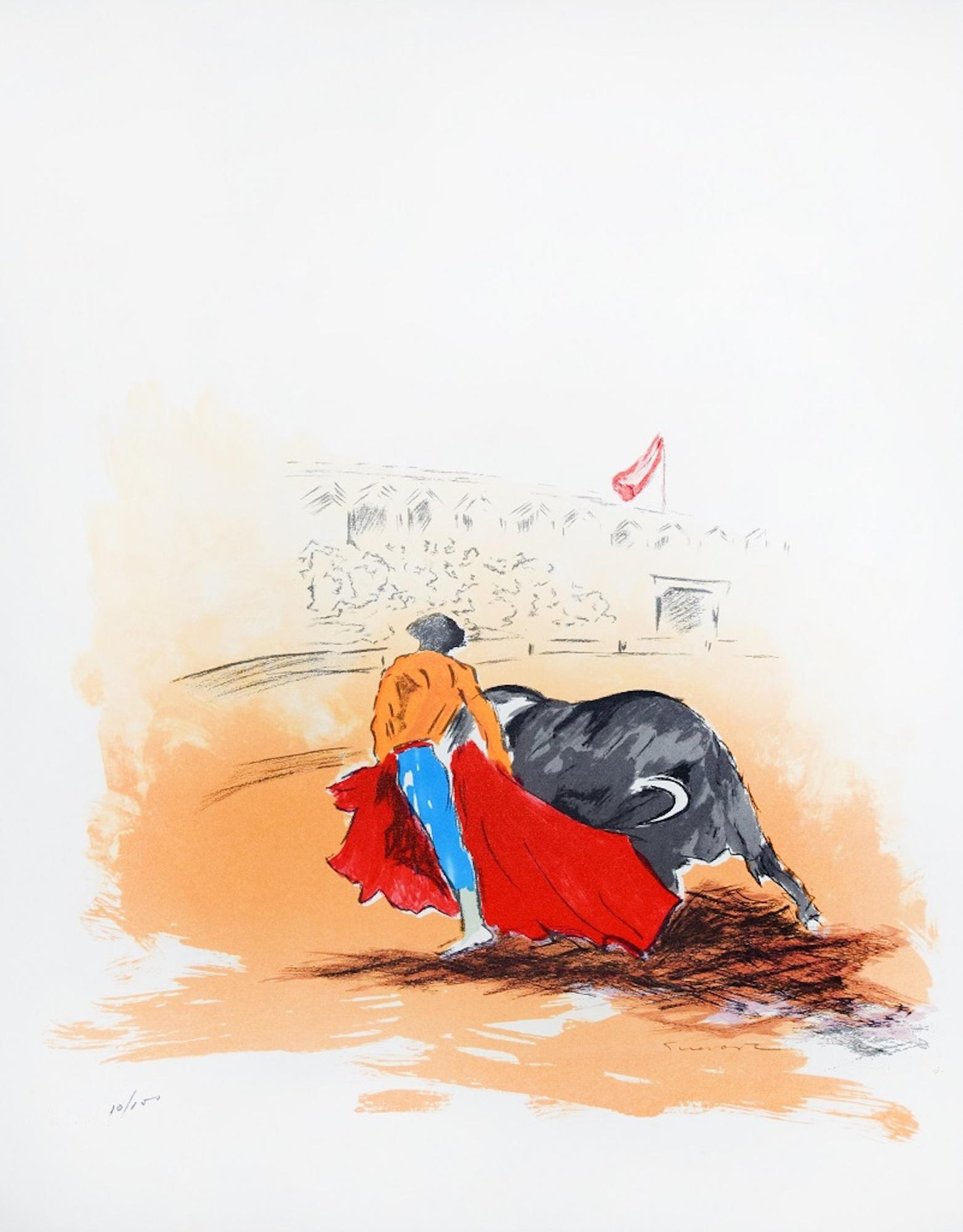 Matador - Original Lithograph by José Guevara - 1990s