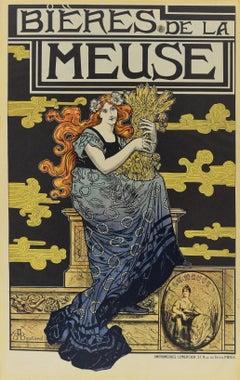 Bieres De La Meuse - Vintage Offset Print After M.A. Bastard