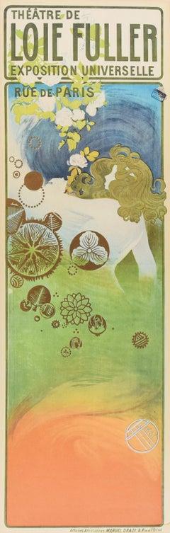 Theatre De Loie Fuller - Vintage Offset Print After Manuel Orazi