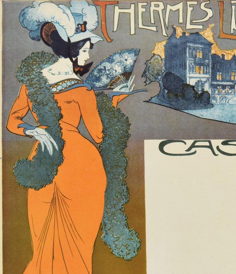 Thermes Liegeois - Vintage Offset Print After G. de Feure - Beige Figurative Print by Georges de Feure (After)